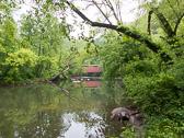 The covered bridge on Forbidden Dr, Philadelphia